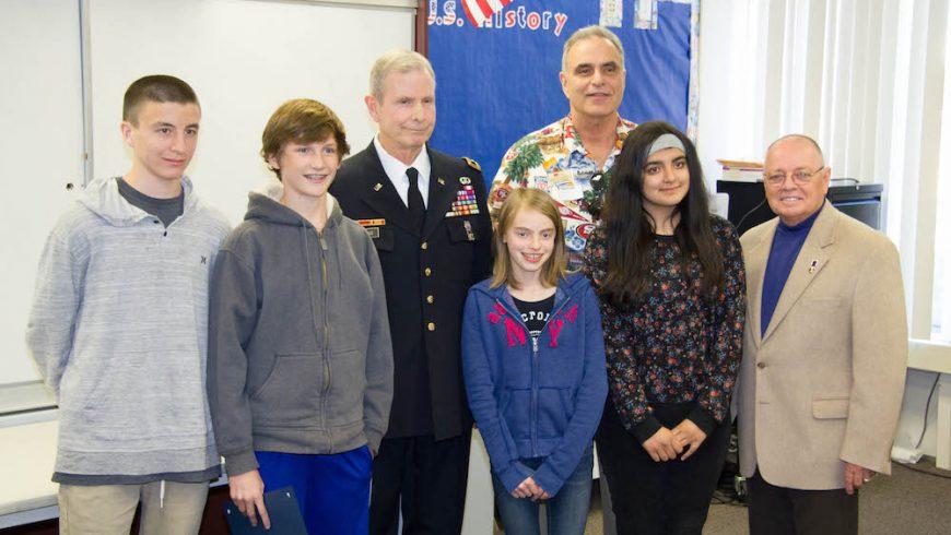 Fisher Middle School Veterans Essay Program in Support of Veterans Day