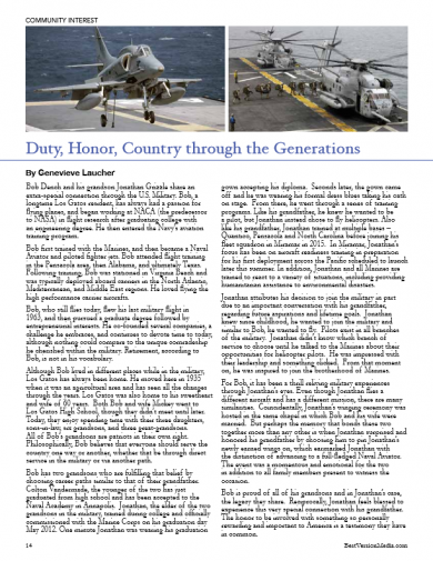 Duty, Honor, Courage – Grandfather – Grandson and Hagelin