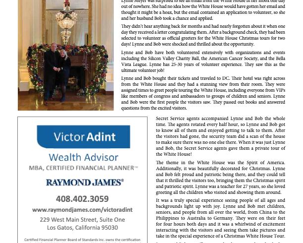 Los Gatos Living: Bob and Lynne Meyer Visit the White House