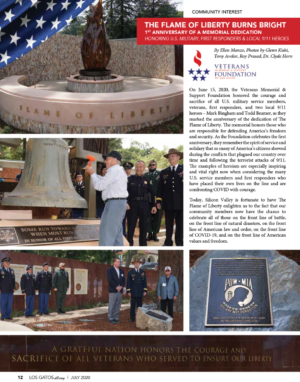 The Flame of Liberty Memorial Celebrates Its 1st Anniversary