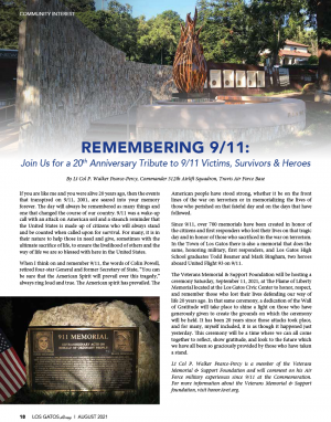 9/11 20th Anniversary Remembrance Day Event