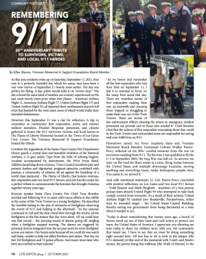 Los Gatos Living: Remembering 9/11